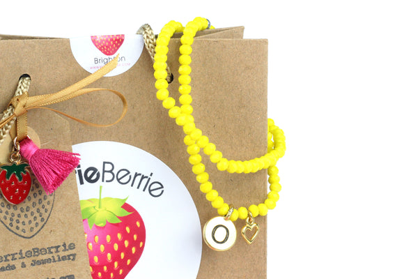 MAKE IT YOURSELF Personalised Bracelet Kit w/ Gold Charms (Makes 2) – CHOICE OF COLOURS