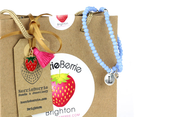 MAKE IT YOURSELF Personalised Bracelet Kit w/ Silver Charms (Makes 2) – CHOICE OF COLOURS
