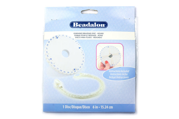 Kumihimo Braiding Disc Round – Instructions Included