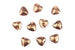 Kerrie Berrie Jewellery Making Supplies Large Copper Heart Beads
