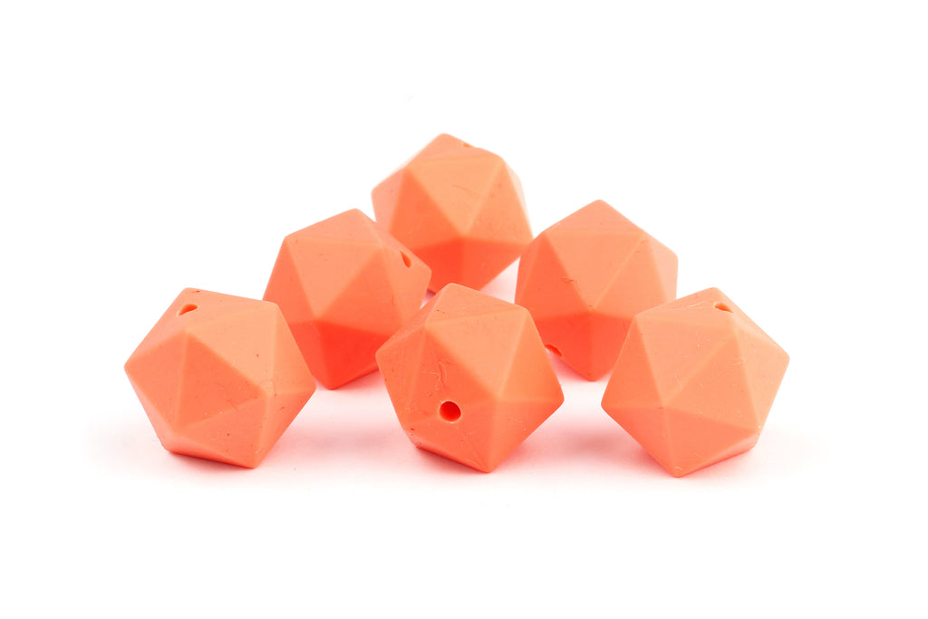 Kerrie Berrie Faceted Geometric Silicone Beads for Jewellery Making