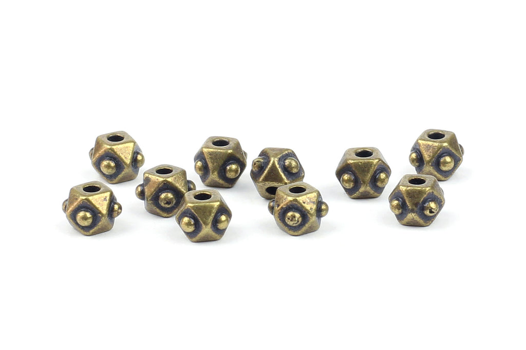 Kerrie Berrie UK Spacer Beads for Jewellery Making in Antique Brass from Tierracast