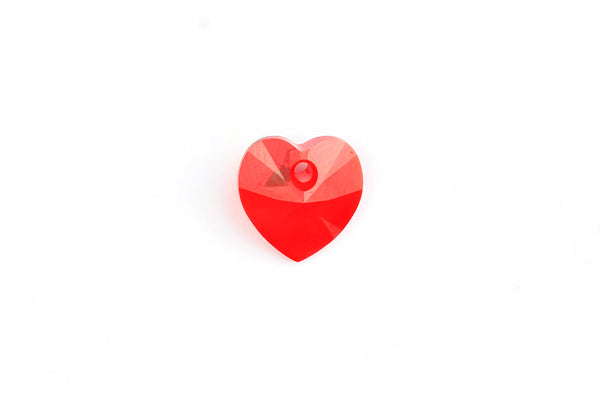 Kerrie Berrie Jewellery Making Supplies Heart Shaped Swarovski Crystal Bead in Red