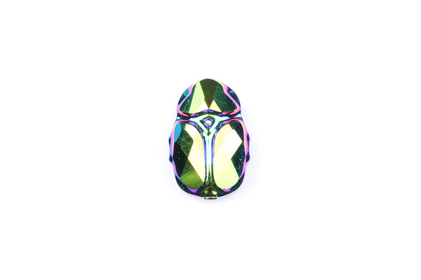 Kerrie Berrie Jewellery Making Suppliers Iridescent Swarovski Crystal Scarab Beetle Bead