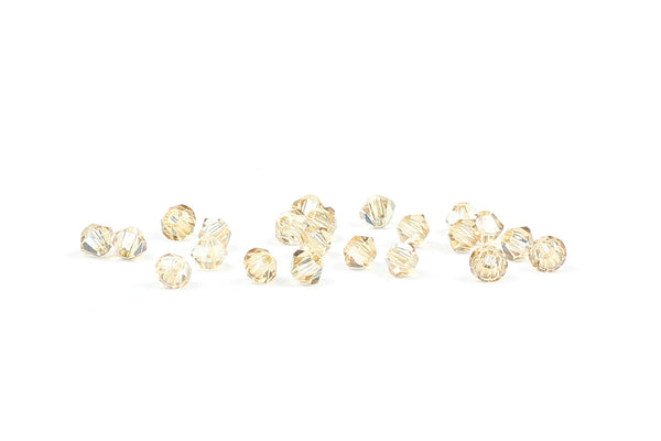 Kerrie Berrie Jewellery Making Supplies Swarovski Crystal Bicone Bead in Champagne