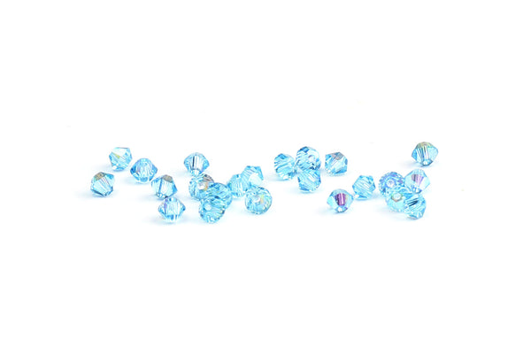 Kerrie Berrie Jewellery Making Supplies Round Swarovski Crystal Bead in Pale Blue
