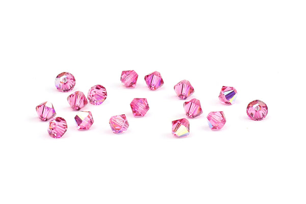 Kerrie Berrie Jewellery Making Supplies Swarovski Crystal Bicone Bead in Pink