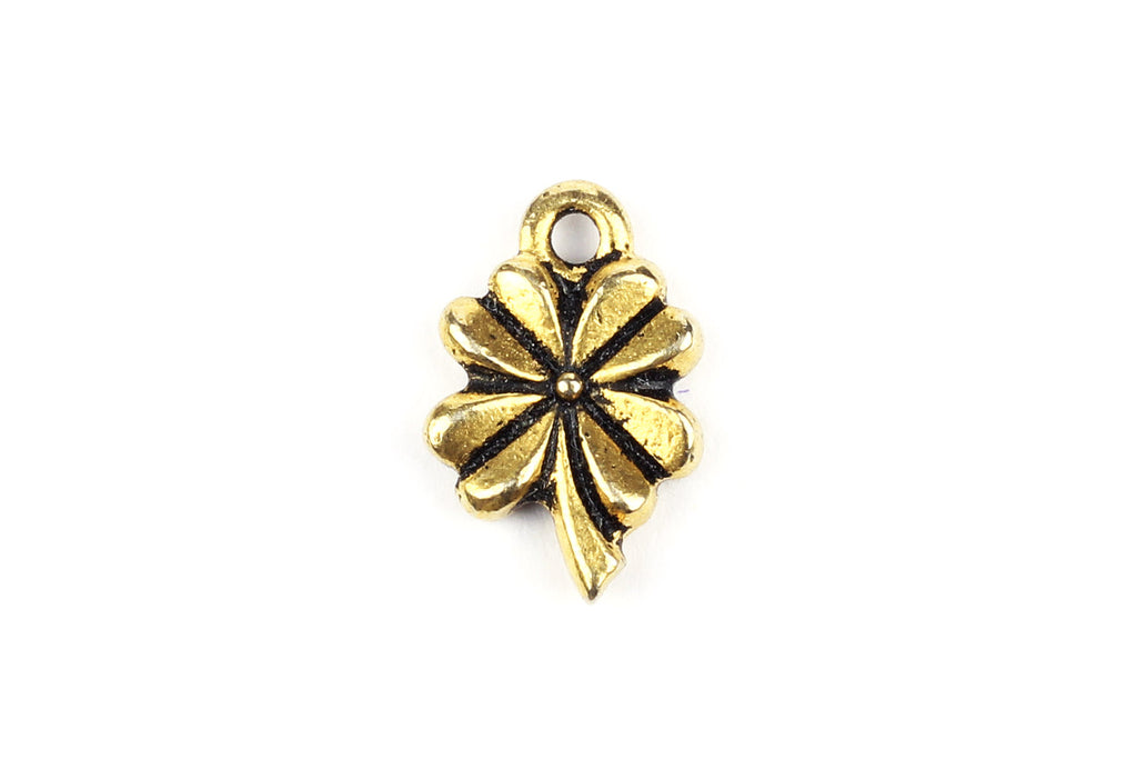Kerrie Berrie UK Tierracast Gold Four Leaf Clover Charm for Jewellery Making