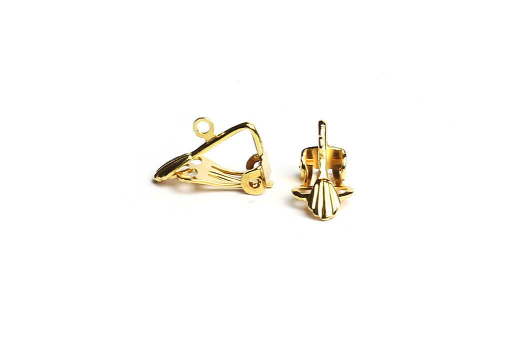 Gold-plated Clip-On Earrings (3 pairs)