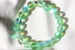 Kerrie Berrie Austrian Glow Glass Bead Bracelet in Green