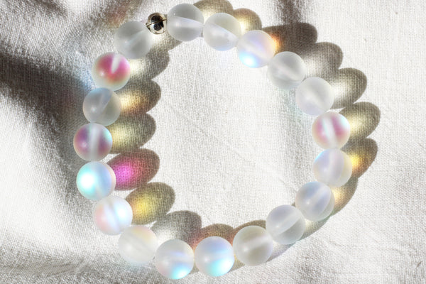 Kerrie Berrie Austrian Glow Glass Bead Bracelet in Clear