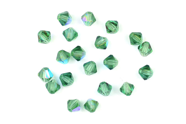 Kerrie Berrie Machine Cut Glass for Jewellery Making in iridescent green