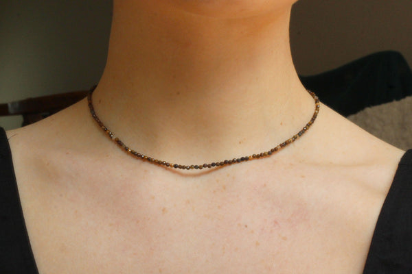Kerrie Berrie UK Semi Precious Jewellery Delicate Tigers Eye Necklace