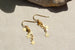 Kerrie Berrie Handmade Gold Star Dangle Drop Earrings From Star Collection