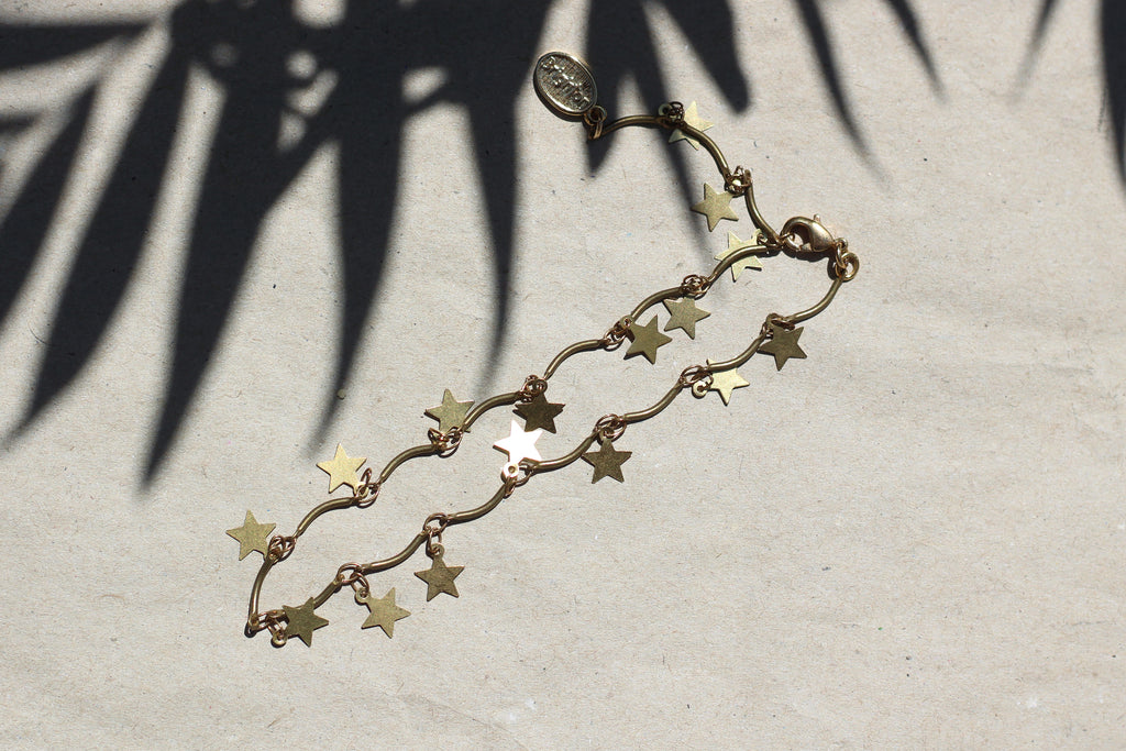 Kerrie Berrie Gold or Silver Handmade Star Anklet