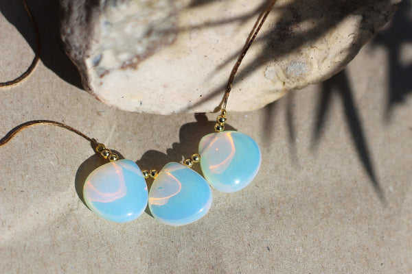 Kerrie Berrie Handmade Wire-wrapped Opalite Necklace
