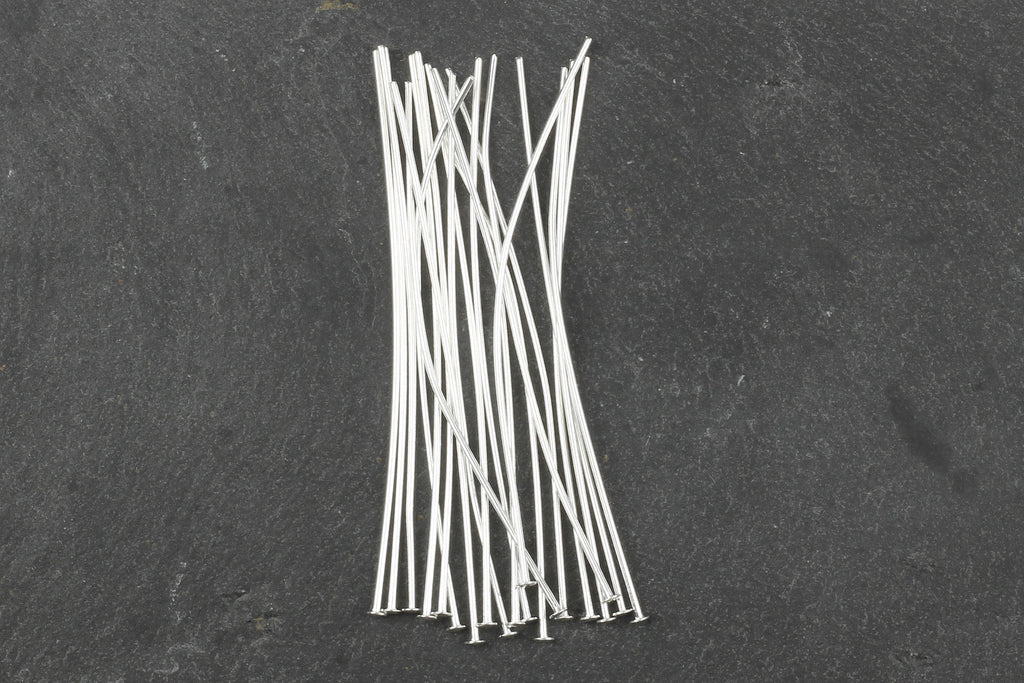 Kerrie Berrie Silver Head Pins for Jewellery Making