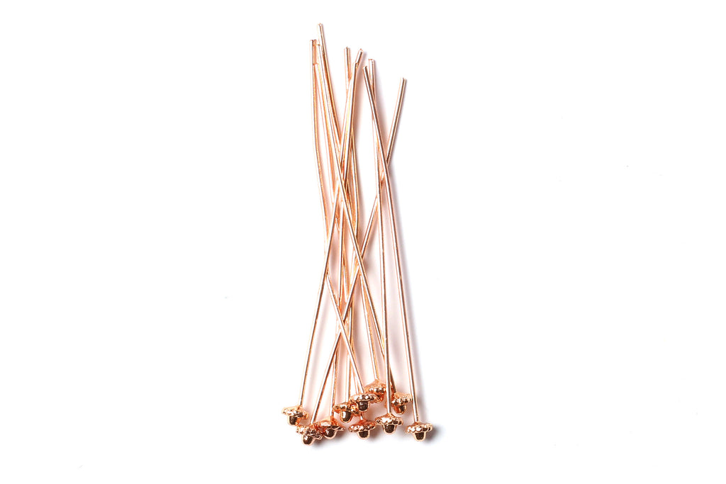 Kerrie Berrie Rose Gold Head Pins for Jewellery Making