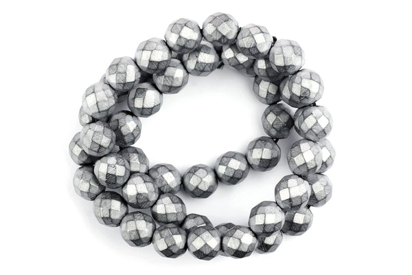 Kerrie Berrie Strand of Hematite Beads in Silver for Jewellery Making