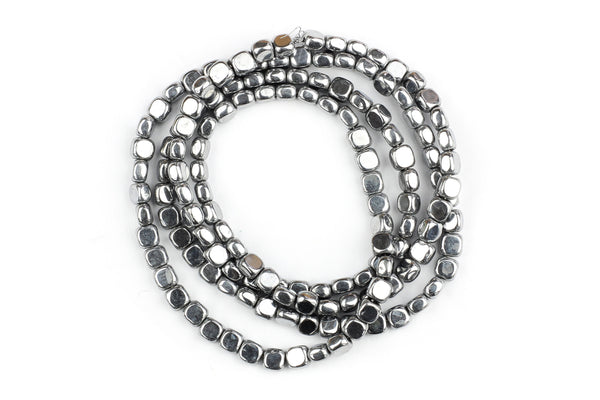 Silver Hematite Beads – 3mm (Approx. 140 beads)