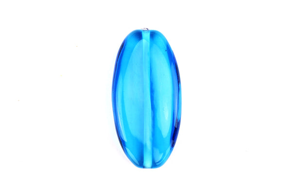 Blue Handmade Czech Glass Lampwork Bead – 30mm x 15mm