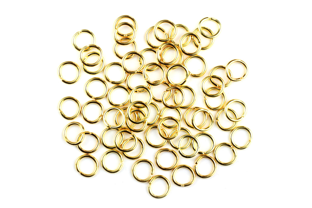 Kerrie Berrie 7mm Gold Open Jump Rings for Jewellery Making