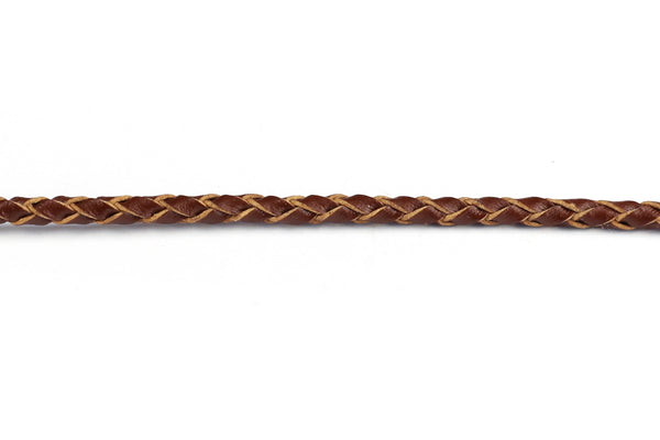 Woven Leather Cord (Plaited) 3mm for Jewellery Making