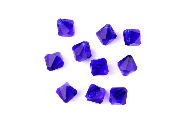 Kerrie Berrie Machine Cut Loose Glass Beads in Royal Blue for Jewellery Making