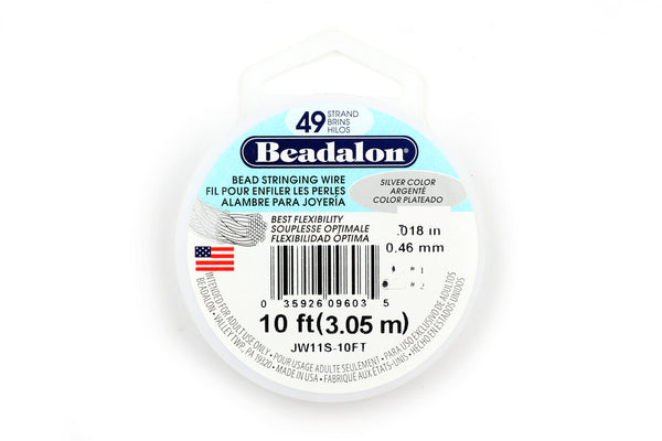 Silver Beadalon 49 Strand Jewellery Wire 0.46mm / 0.18in (3m / 10ft)