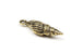 Large Brass Tierracast Spindle Shell Charm