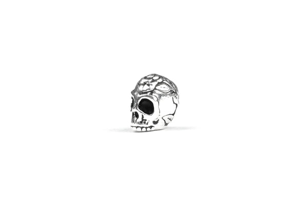 Silver-plated Tierracast 3D Skull Charm