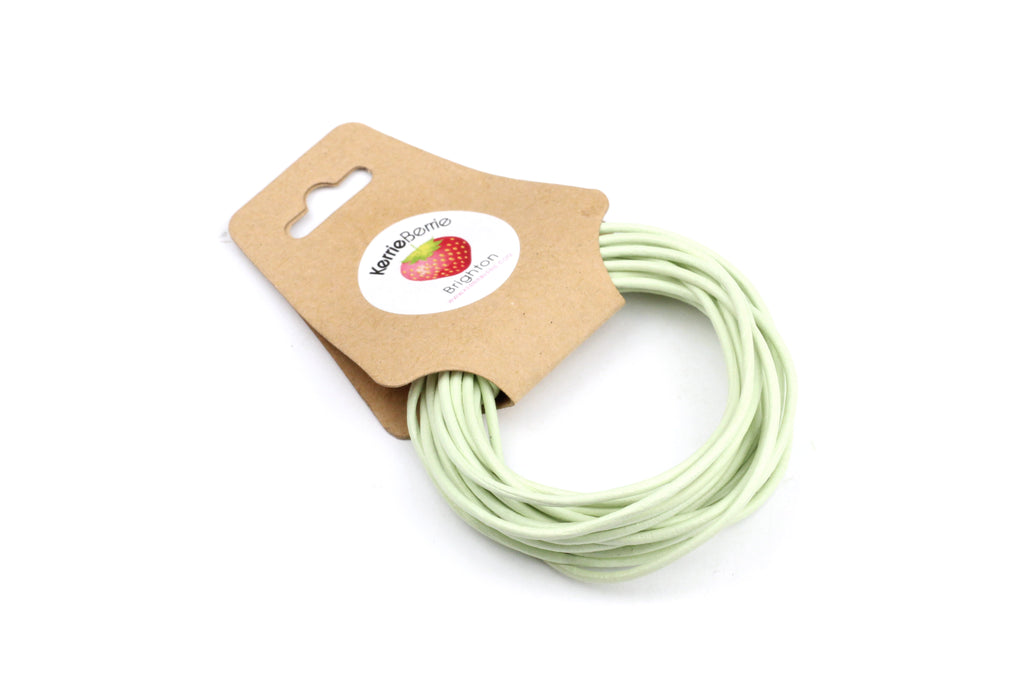 Leather Cord in Mint Green – 1.5mm (3m)