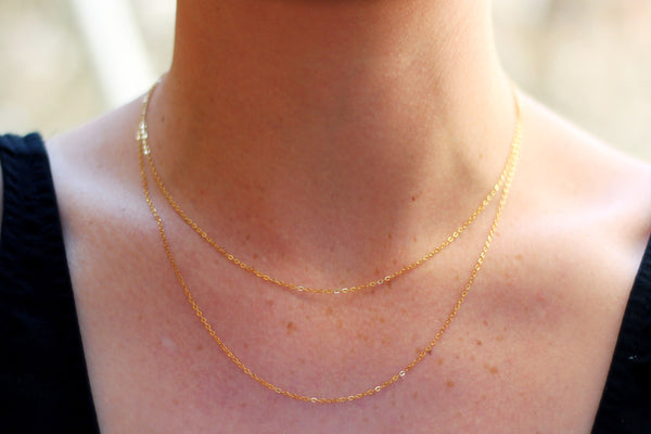 Kerrie Berrie Gold Filled Gold Plated Necklace Chain in 16 inch or 18 inch lengths