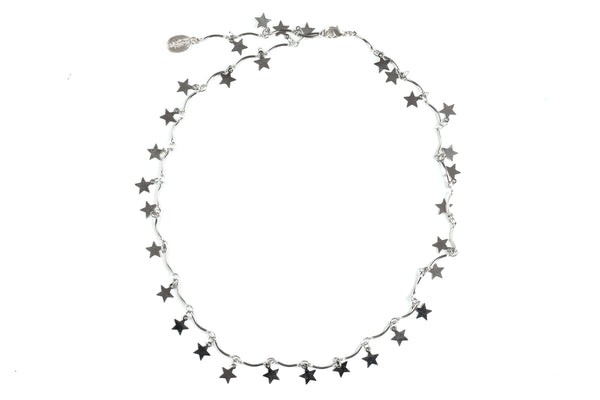 Kerrie Berrie Silver Star Necklace Choker