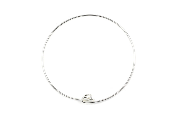 Sterling Silver Bangle Bracelet – 16.5mm (1pc)