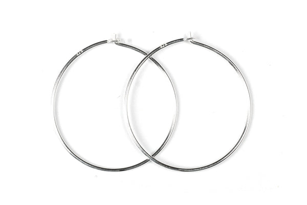 Sterling Silver Beading Hoops for Jewellery Making