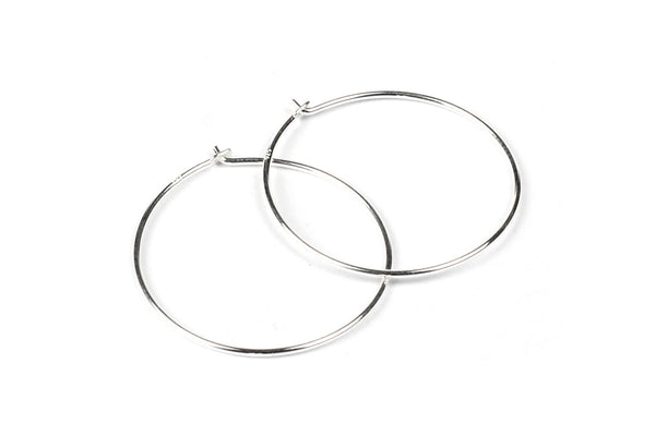 Sterling Silver Beading Hoops for Beading and Jewellery Making