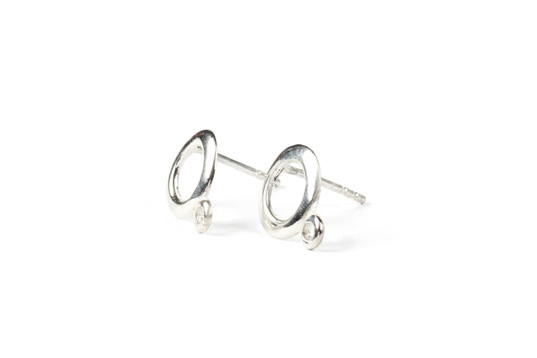 Sterling Silver Earring Posts for Jewellery Making