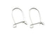 Sterling Silver Kidney Ear Wires for Jewellery Making