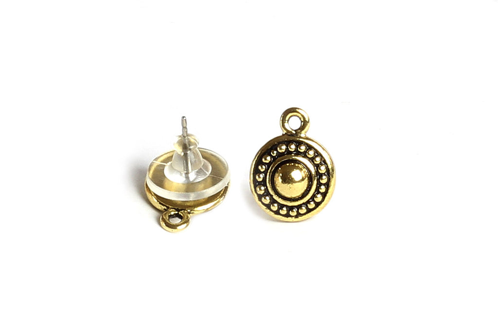 Kerrie Berrie Tierracast Gold Decorative Studs with Loop