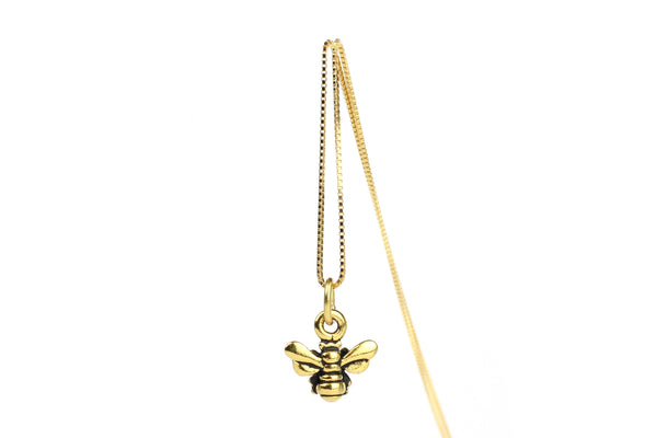 Gold-Plated Bee Necklace – 16-inch