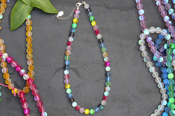 Kerrie Berrie Austrian Glass Glow Beads Necklace
