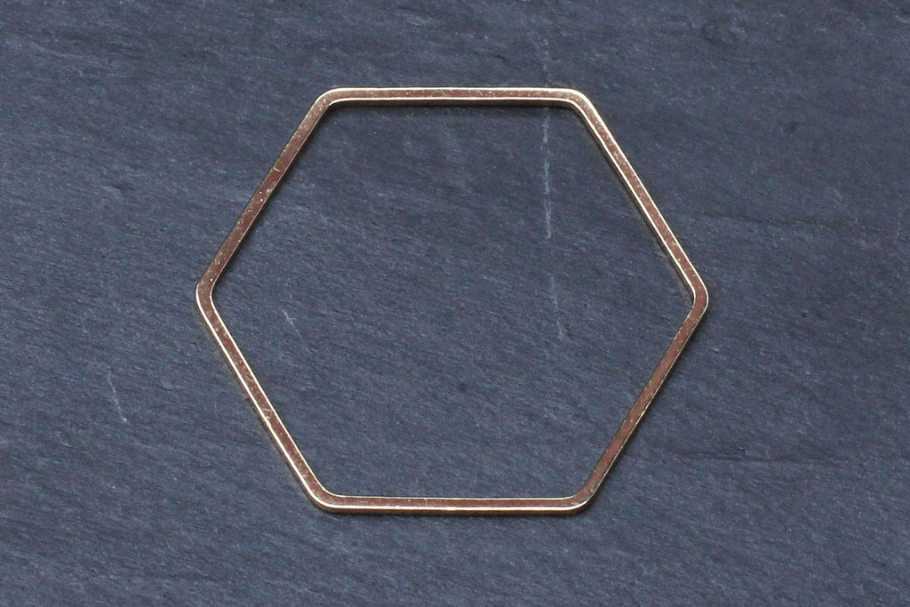 Kerrie Berrie Gold-plated Brass Geometric Hexagon Shape for Jewellery Making
