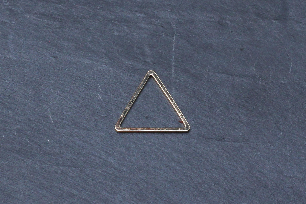 Kerrie Berrie Gold Triangle Geometric Link for Jewellery Making