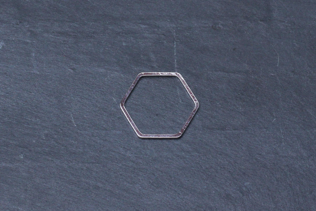 Kerrie Berrie Silver Rhodium Brass Geometric Hexagon Shape for Jewellery Making