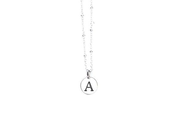 Kerrie Berrie Personalised Letter Charm Silver Chain Necklace