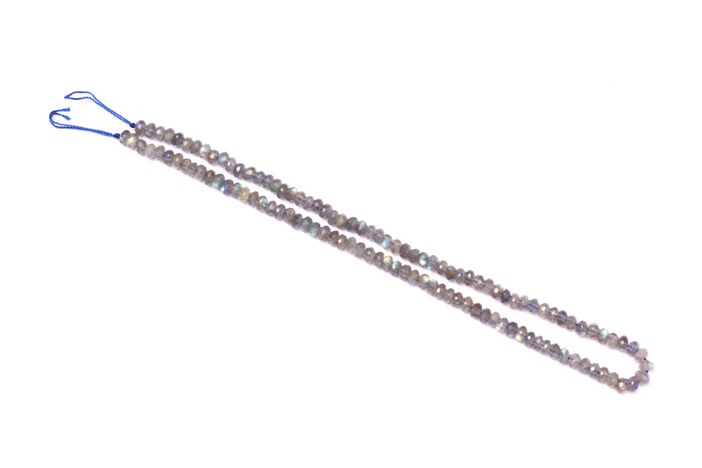 Labradorite Strand of  Faceted 3 x 4mm Rondelle Beads