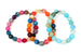 Kerrie Berrie Colourful Elasticated Genuine Real Agate Bracelet in Multi Colour and Blue