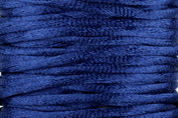 Navy Blue Silk Nylon Rattail Cord – 2mm (5m)