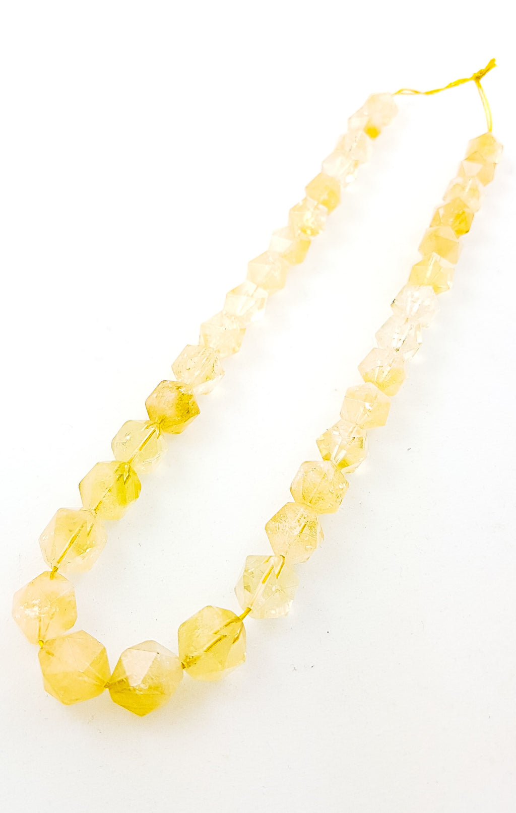 Strand of Semi-Precious Citrine 12mm Hexagons